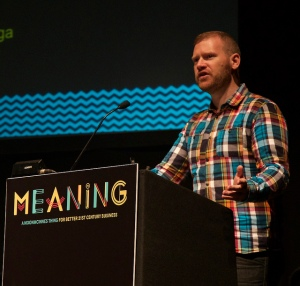 Tom Nixon speaking at Meaning Conference